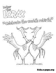 Lorax Coloring Book Page Get Coloring Pages
