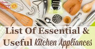 kitchen utensils list. List Of Essential And Useful Kitchen Appliances, Gadgets Utensils, So You Know What Utensils
