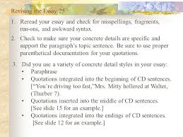 building the freshman essay ppt video online  revising the essay 25 re your essay and check for misspellings fragments run