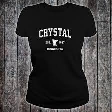 T Shirt Design Mn Crystal Minnesota Mn Vintage Athletic Sports Design Shirt