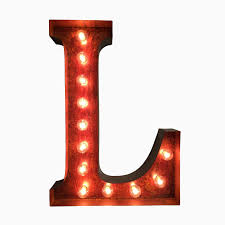 Red Light Up Marquee Letters Buy A Handmade Marquee Letter Light Made To Order From