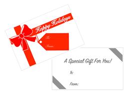 Pre Printed Gift Card Envelopes
