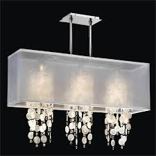 crystal pendant lighting rectangular shade chandelier capiz shell and crystal