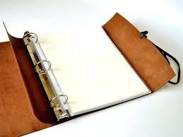 soft leather 3 ring binders woodsman binder custom journals 7