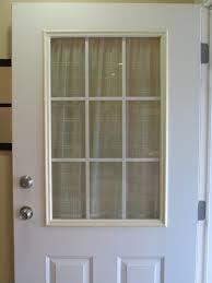 spray painted window trim on exterior door