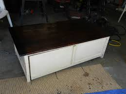 coffee table with toy box trundle