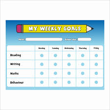 Reading Sticker Chart Weekly Goals A4 Reward Chart With Stickers