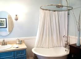 sightly clawfoot bathtub shower curtain brilliant tub shower curtain small rod tips installing intended for shower