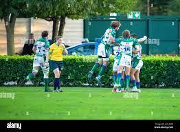 Monigo Stadium, Treviso, Italien, 16. Oktober 2021, Benetton Treviso  passiert während des Spiels von Benetton Rugby gegen Ospreys - United Rugby  Championship Stockfotografie - Alamy