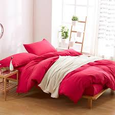 solid color duvet cover twin full queen king size with 2 pillow shams