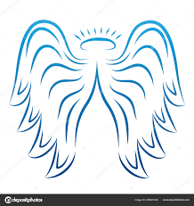 Andělská Křídla Kreslení Vektorové Ilustrace Křídla Andělské