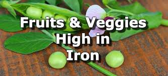 Foods High In Iron Chart Fruits And Vegetables High In Iron