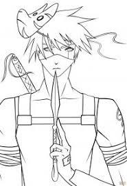 Small Picture Kakashi Hatake Cartoon Coloring Page Cartoon Naruto Coloring