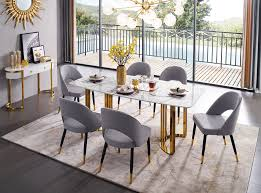 Ining Room Furniture Kitchen Tables And Chairs 131 Gold Marble Dining