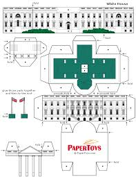 White House Model Free Printable 3d Paper Cut Out Template