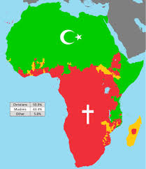 Simplified Map Of Africas Religions Brilliant Maps
