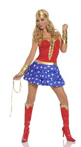 Wonder Woman Costume Pattern Extraordinary Blue Red Sexy Halloween Overbust Pattern Superwoman Dress Fancy