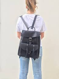 women s bag leather backpack women leather rucksack made in greece from full grain
