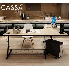 office table top. Cassa Soreno Corner L Shape Desk Maple Computer Office Table Top With Black Frame Malaysia