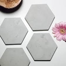 hexagon concrete coaster