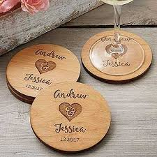 Wedding Coasters Rustic Wedding Party Favors Personalized Coasters Wedding