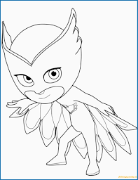 Owlette Coloring Page Unique Owlette From Pj Masks Coloring Page