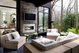 napoleon fireplace with coffee table deck transitional and see through fireplace
