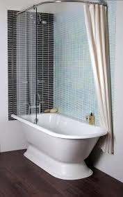 stand alone tub with shower white pedestal freestanding tub with shower combo with glass and shower