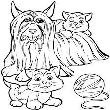 Kleurplaten Van Honden En Katten Archidev Paarden En Honden En In