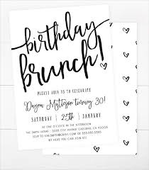 Birthday Brunch Vint Beautiful Birthday Lunch Invitation Birthday