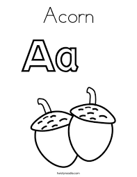 Acorn Coloring Page Twisty Noodle