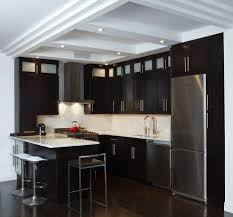 Dark Wood Cabinet Kitchens Dark Cherry Kitchen Cabinets Dining Room Traditional With
