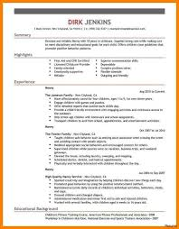 Babysitter Bio Example Babysitting Bio Resume Sample Best Of Babysitting Bio Resume Sample