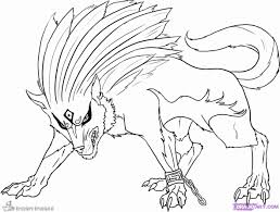 Wolf With Wings Coloring Pages