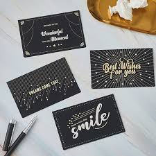 Buy 4Pcs <b>Hot</b> Stamping Greeting Cards Message Cards Festival ...