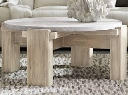 light wood round coffee table amc