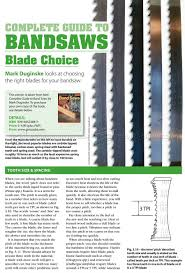 1476 Complete Guide To Band Saws Blade Choice Band Saw