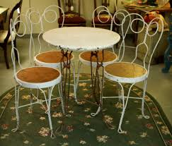 antique ice cream table and four chairs sold