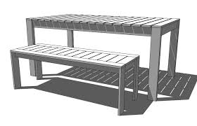 long wooden bench plans