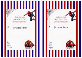 Spiderman Birthday Invitation Templates Free Spiderman Party Invitation Templates
