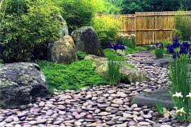river rock bed landscaping