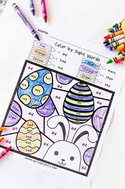 Easter Coloring Pages Free Sight Words Printable For Kids April