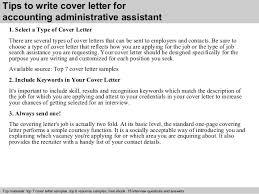 Accounting Administrative Assistant Cover Letter Sarahepps Com