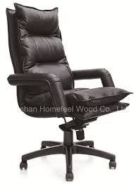 modern genuine leather high back office executive chair hf ch102