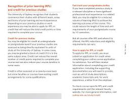 Recognition Of Prior Learning And Reduced Volume Learning At