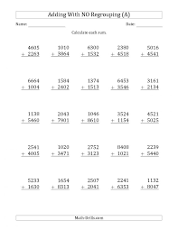 Mathrksheets Additions And Subtractionsrksheet Addition ...
