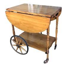 wooden tea cart early century antique wagon wheel wood tea cart wheels caster vintage tea cart