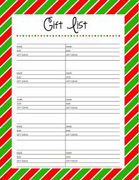 Free Printable Christmas Gift List Template - Printable Template 2017 with Christmas  Gift Exchange Wish List