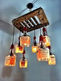 makers mark whiskey driftwood 8 bottle chandelier pmglassart whiskey bottle chandelier