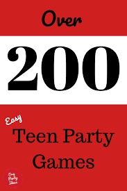 For most of the games below you will need to do some preparation and gather together some equipment. Teen Party Games